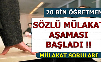 MEB 20 Bin Öğretmen Sözlü Mülakat Süreci Başladı (Sözlü Mülakat Soruları)