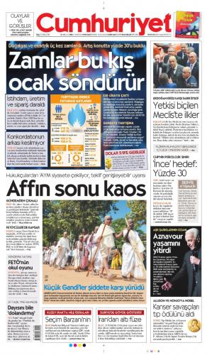 2 Ekim Gazete Manşetleri