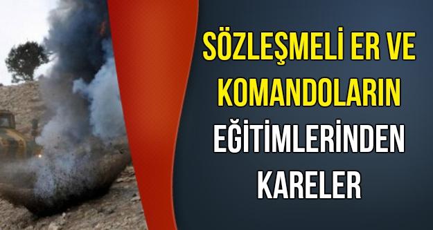 Sözleşmeli Er ve Komandoların Eğitimlerinden Kareler