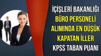 İçişleri Bakanlığı Personel Alımında KPSS Taban Puanları