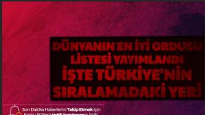 Dünyanın En İyi Ordusuna Sahip Ülkeleri Listesi Yayımlandı-İşte Türkiye'nin Listedeki Yeri