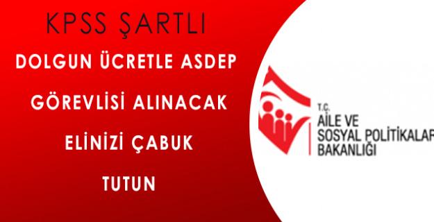Kırşehir Aile ve Sosyal Politikalar İl Müdürlüğü 6 Adet ASDEP Görevlisi Alacak!