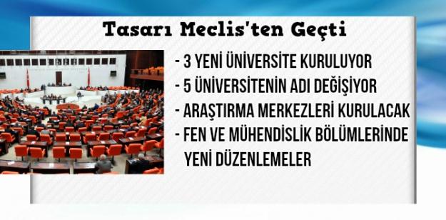 Yükseköğretim ile ilgili kanun tasarısı TBMM'den geçti