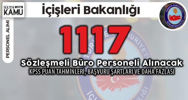 1117 Sözleşmeli Büro Personeli Alımına Yoğun İlgi! Tahmini Taban Puanları