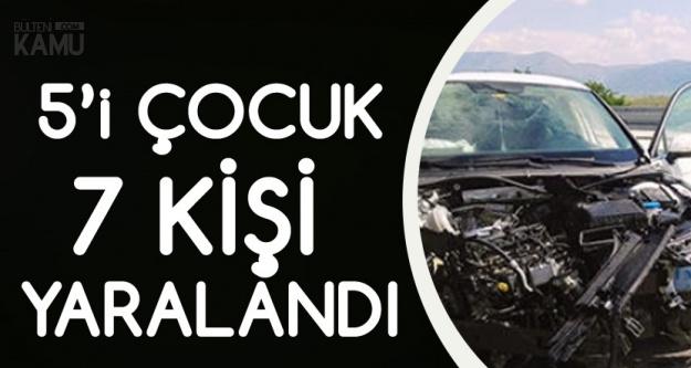 Afyonkarahisar'da İki Otomobil Çarpıştı, Kazada 7 Kişi Yaralandı