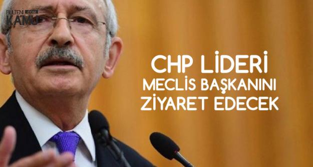 CHP Lideri, TBMM Başkanı Yıldırım'ı Ziyaret Edecek