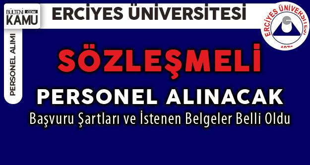 Erciyes Üniversitesi Mülakat Şartsız Personel Alımı Yapacak