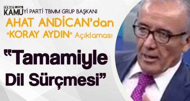 İYİ Parti TBMM Grup Başkanı Andican'ndan 'Koray Aydın' Açıklaması: Tamamen Dil Sürçmesi