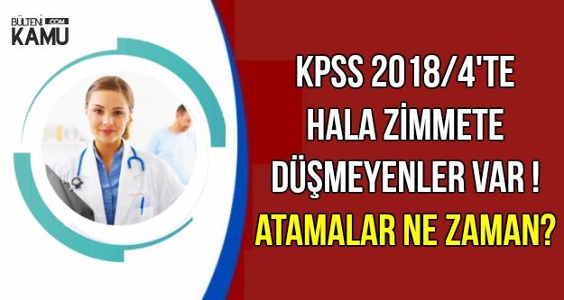 KPSS 2018/4'le Yerleşenlerden Hala Zimmet Bekleyen Var !