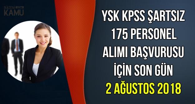 KPSS'siz 175 Memur Alımı Başvurusu Sona Eriyor