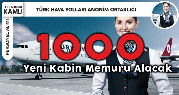 Türk Hava Yolları 1000 Kabin Memuru Alacak