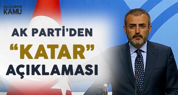 AK Parti'den Son Dakika 'Katar' Açıklaması