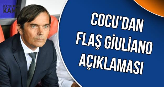 Cocu'dan Giuliano Açıklaması