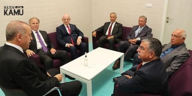 Cumhurbaşkanı Erdoğan Eski TBMM Başkanlarını Kabul Etti