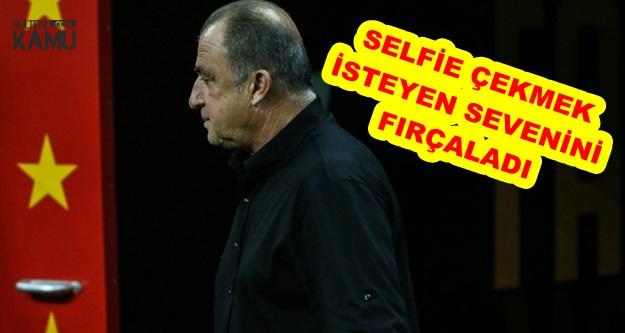 Fatih Terim Selfie Çeken Genci O Hareketinden Dolayı Fırçaladı