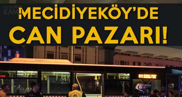 Mecidiyeköy'de Can Pazarı! Halk Otobüsü Köprü Ayağına Çarptı