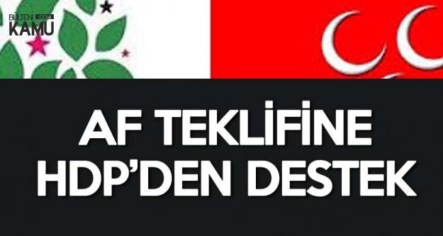 MHP'nin Af Teklifine HDP'den Destek Geldi! 'Kapsam Genişletilmeli'