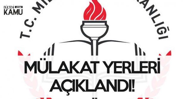 Ücretli Öğretmenlerden Alınacak 2 Bin 258 Kadro için Mülakat Yerleri Açıklandı