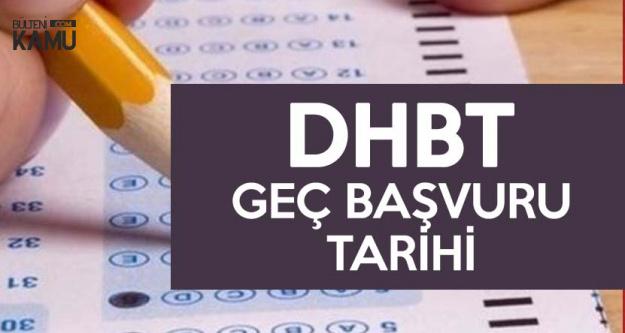 2018 KPSS DHBT Geç Başvuruları 1 Kasım'da Yapılacak