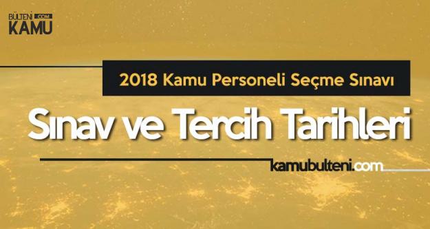 2018 KPSS Lise, Önlisans, Lisans Sınav ve Atama Tarihleri