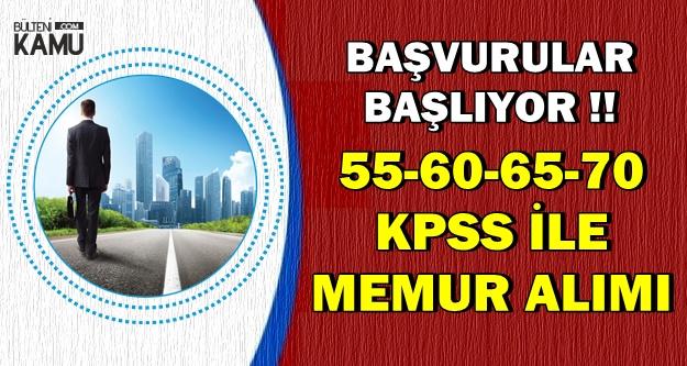 55-60-65-70 KPSS ile Kadrolu Memur Alımı Yapılıyor