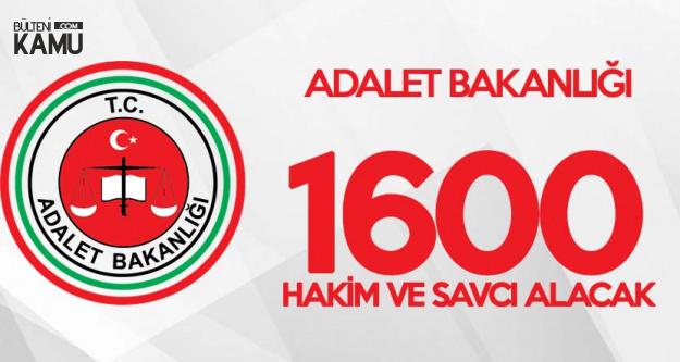 Adalet Bakanlığı 1600 Hakim ve Savcı Alımı Başvuruları 1 Kasım'da Başlıyor