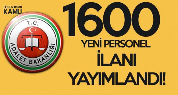 Adalet Bakanlığı 1600 Hakim ve Savcı Alımı Yapacak