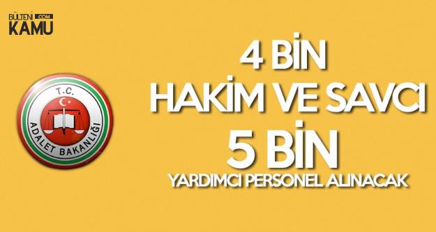 Adalet Bakanlığı'na 5 Bin 200 Yardımcı Personel, 4 Bin de Hakim ve Savcı Alınacak