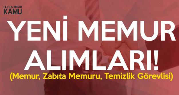 İki Belediye Memur Alımı Yapacak (Zabıta Memuru, Memur, Temizlik Görevlisi)