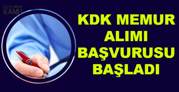 KDK Kamu Personeli Alımı Başvurusu Bugün Başladı