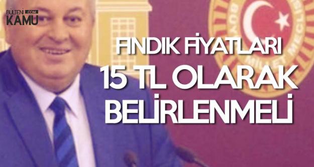 MHP'li Enginyurt : Fındık Fiyatları 15 TL Olarak Belirlenmeli