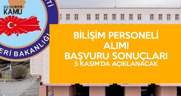 Nüfus ve Vatandaşlık İşleri Genel Müdürlüğü Personel Alımı Başvuru Sonuçları 5 Kasım'da Açıklanacak