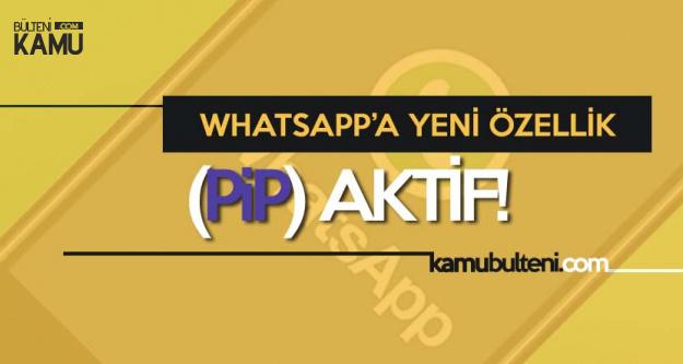 Whatsapp'a Yeni Özellik! PiP Artık Aktif!