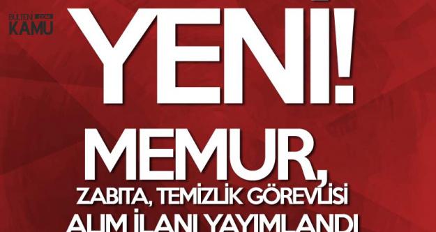Yalova Altınova Belediyesi Yeni Zabıta Memuru, Memur ve Temizlik Hizmetlisi Alımı Yapacak