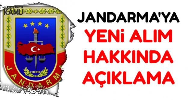 Yeni Jandarma Alımı Hakkında Açıklama 2018