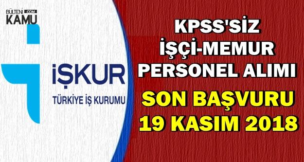 12 İlan ile Belediyelere KPSS'siz İşçi-Memur Alımı İçin Son Başvuru: 19 Kasım 2018