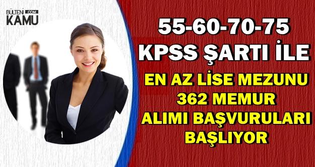 55-60-70-75 KPSS ile Memur Alımı Başvuruları 15-16 Kasım 2018'de Başlıyor