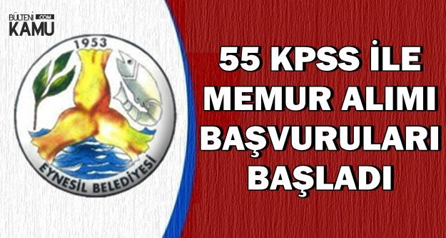 55 KPSS ile Kadın-Erkek Memur Alımı Başvurusu Başladı (Zabıta)