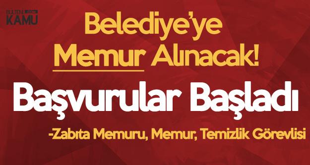 Altınova Belediyesi'ne Devlet Memuru Alınacak (Zabıta Memuru , Temizlik Görevlisi, Memur)