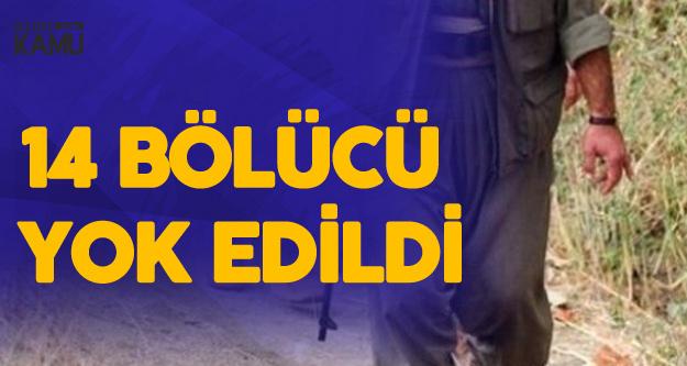 Fistanlı Teröristlere Ağır Darbe: 14 Bölücü Yok Edildi