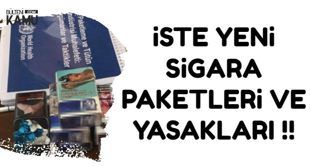 İşte Yeni Sigara Paketleri