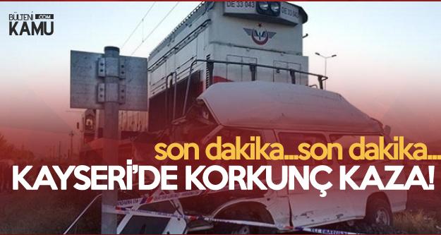 Kayseri'de Tren Kazası : 2 Ölü