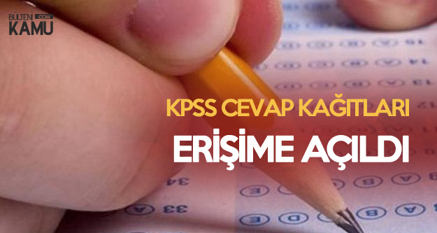 KPSS Lise'de Adaylar Cevaplarını ÖSYM'den Görebilecek (Cevap Kağıtları Erişime Açıldı)