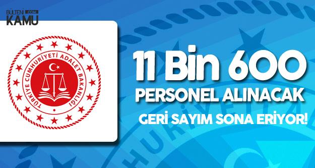 Adalet Bakanlığı'na 11 Bin 600 Yeni Personel (Bakanlık Sınavı ve CTE)