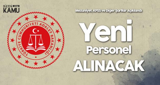 Adalet Bakanlığı Personel Alacak! Duyuru DPB'de Yayımlandı