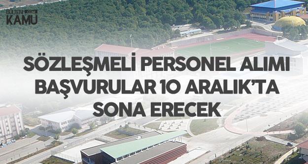 Bolu Abant İzzet Baysal Üniversitesi'ne Sözleşmeli Personel Alınacak (Lise ve Lisans KPSS Şart)
