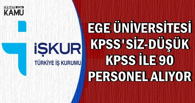 Ege Üniversitesi İŞKUR'dan En Az İlkokul Mezunu Personel Alımı Yapıyor