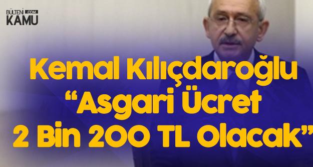 Kılıçdaroğlu TBMM'de Açıkladı: Asgari Ücret Net 2 Bin 200 TL Olacak