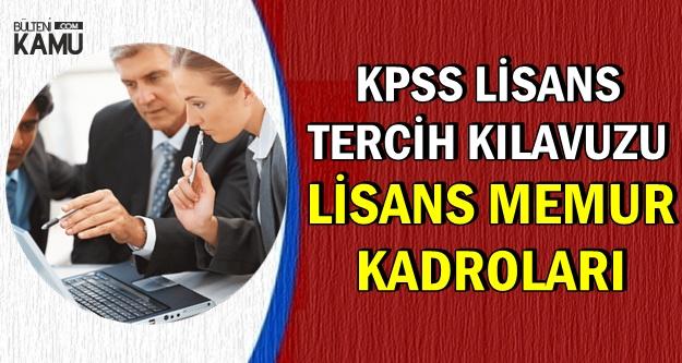 KPSS 2018/2 ile Lisans Mezunu Memur Alımı Kadroları ve Nitelik Kodları