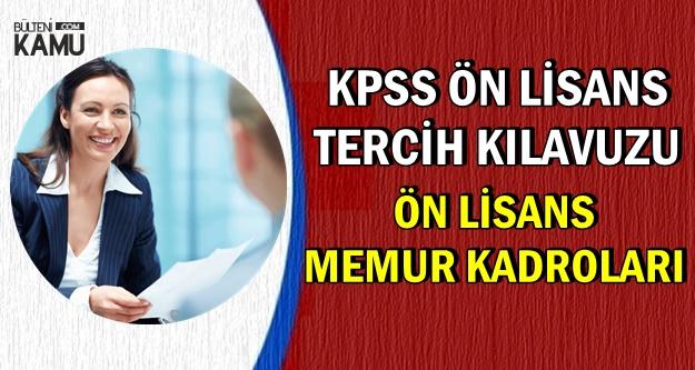 KPSS Ön Lisans Tercih Kılavuzu-Ön Lisans Memur Kadroları